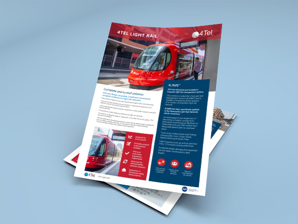 4Tel Light Rail Solutions flyer image